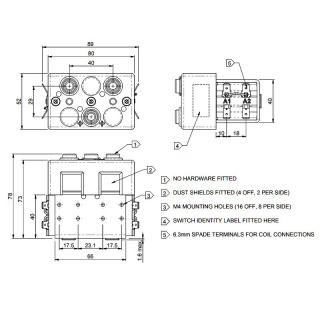 DC92-214 Albright 24V DC Motor Reversing Switch Solenoid